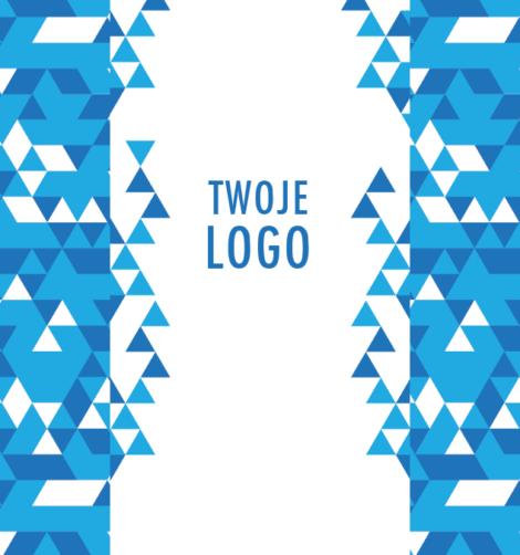 Krówki firmowe niebieski trójkąt