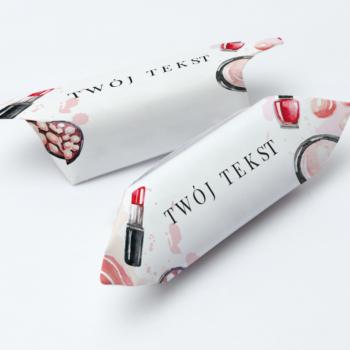 Krówki reklamowe twój tekst makijaż szminka