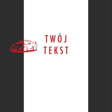 Krówki firmowe z czerwonym samochodem