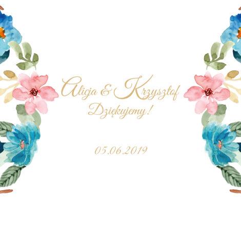 Krówki na ślub i wesele kolorowe kwiaty