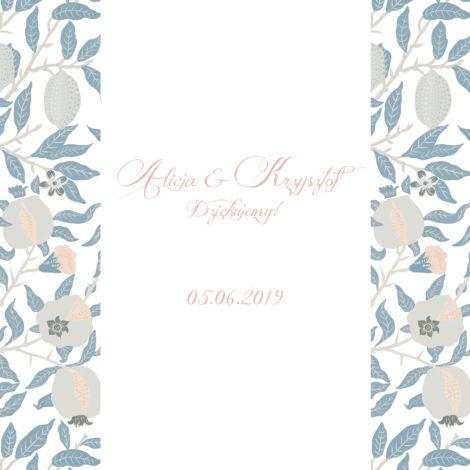 Krówki na ślub i wesele kwiaty niebieskie