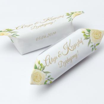 Krówki na ślub i wesele żółte kwiaty
