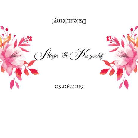 Krówki na ślub i wesele kwiaty czerwone