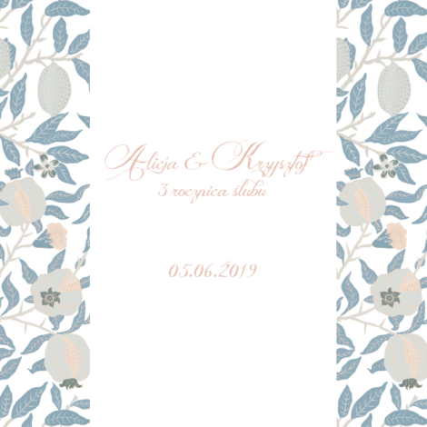 Krówki na ślub rocznica białe liście