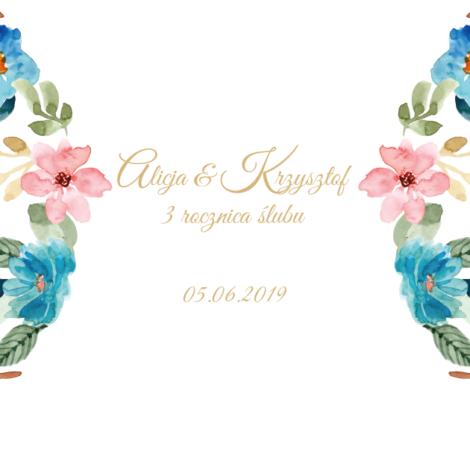 Krówki na ślub rocznica kolorowe kwiaty