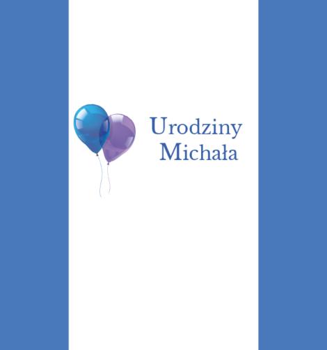 Krówki urodzinowe niebieski balon