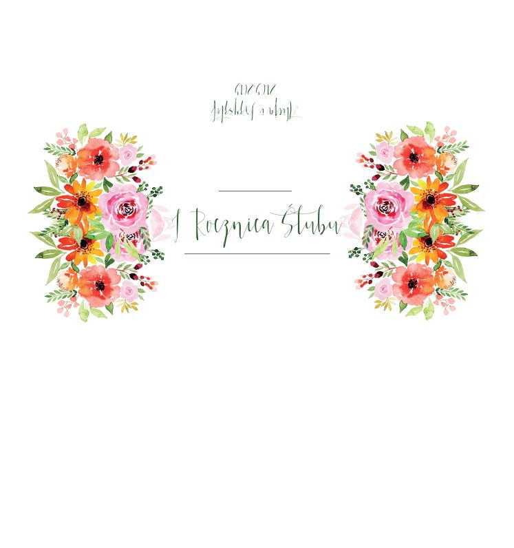 Krówki na ślub kolorowe kwiaty