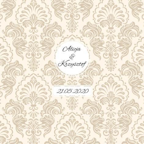 Krówki na ślub wesele eleganckie wzory kremowe