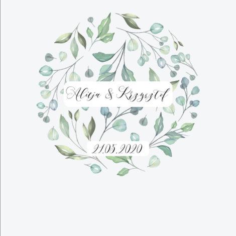 Krówki na ślub i wesele zielone kwiaty