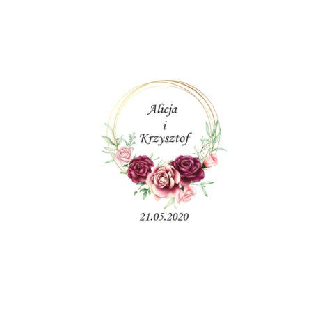 Krówki na ślub i wesele kwiaty czerwone róże