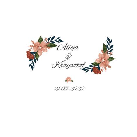 Krówki na ślub i wesele kwiaty pomarańczowe