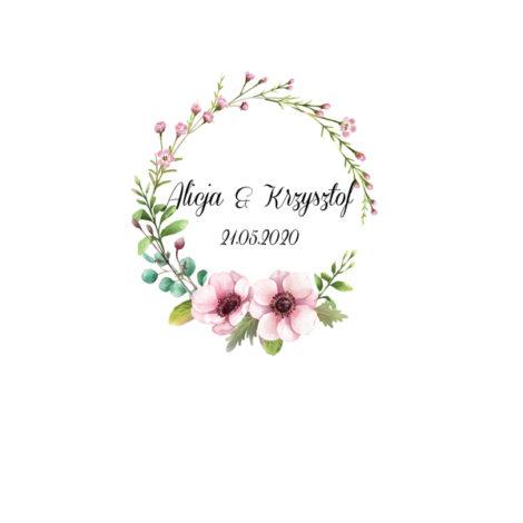 Krówki na ślub i wesele boho pastelowe gałązki