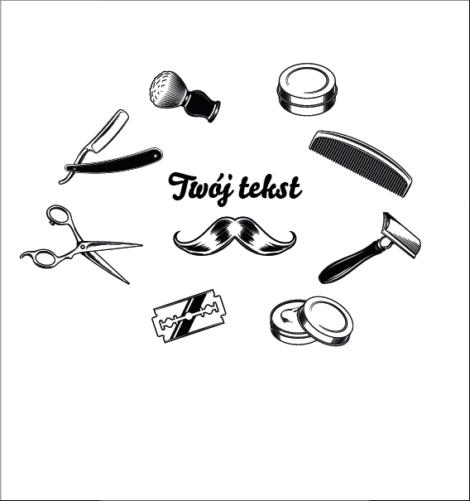 Krówki reklamowe twój tekst grzebień nożyczki