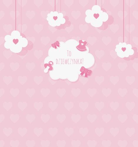 krówki baby shower dziewczynka różowe smoczki