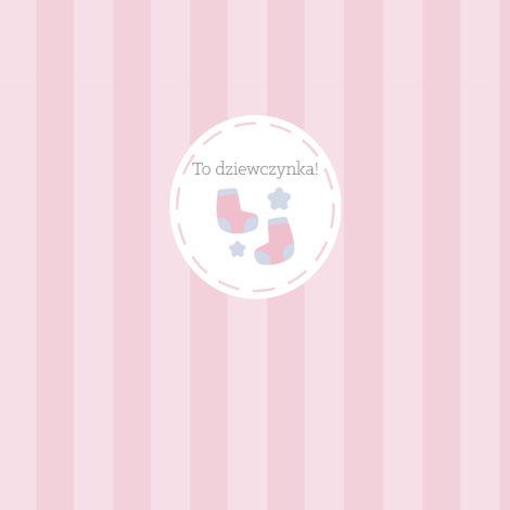 krówki baby shower dziewczynka różowe paski