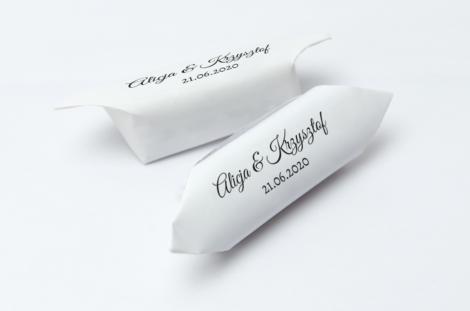 Krówki na ślub i wesele czarne napisy