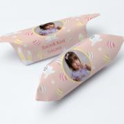 krówki ze zdjęciem dziecka na urodziny z zajączkiem