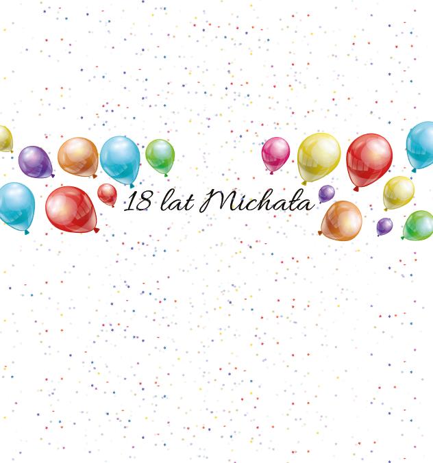 Krówki urodzinowe kolorowe balony