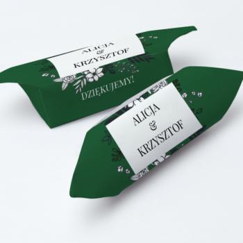 Krówki na ślub i wesele zielone