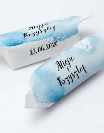 Krówki na ślub i wesele niebieskie plamy