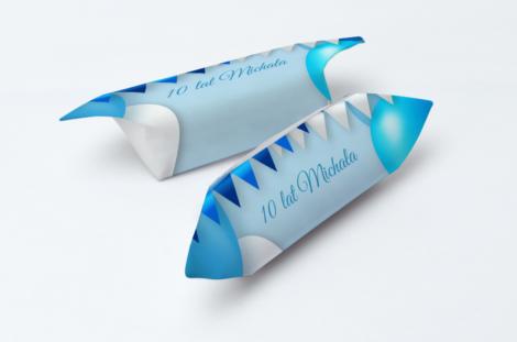 krówki na urodziny niebieskie balony