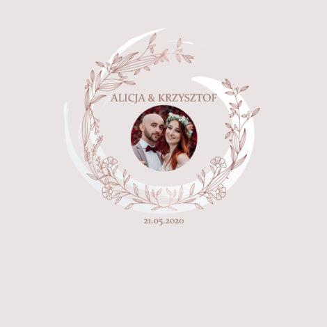 Krówki na ślub i wesele ze zdjęciem kwiaty