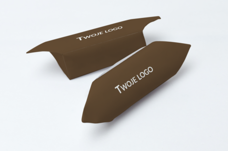 Krówki firmowe twoje logo brązowe