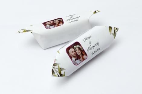krówki weselne ze zdjęciem Pary Młodej