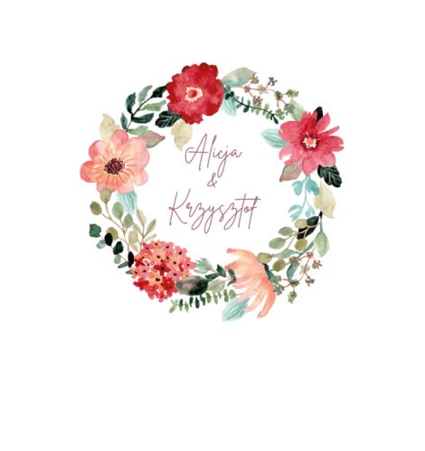 Krówki na ślub i wesele pudrowe kwiaty czerwone maki