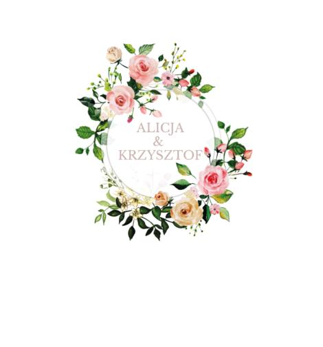 Krówki na ślub i wesele pastelowe kwiaty