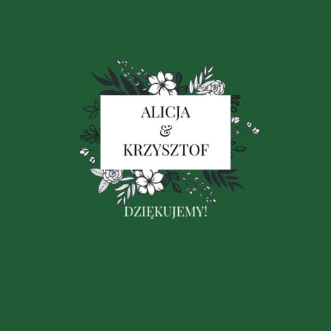 Krówki na ślub i wesele zielone białe kwiaty