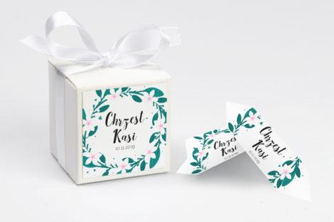 Pudełko na krówki personalizowane NA CHRZEST