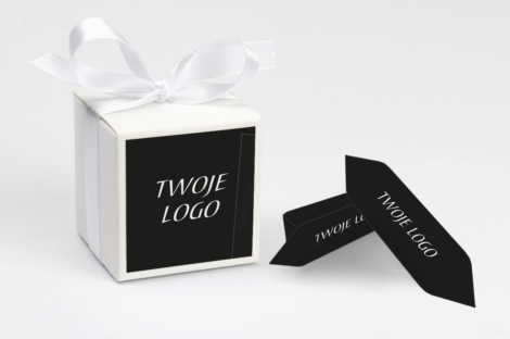 personalizowane pudełeczko na krówki czarne z twoim logo