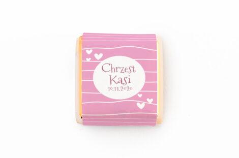czekoladka z personalizacja na chrzest