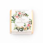 czekoladka z personalizacją weselna w kwiaty