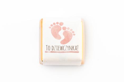 czekoladka z personalizacja na baby shower