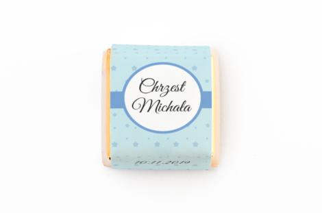 czekoladka z personalizacją na chrzest