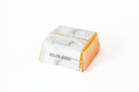 czekoladka z personalizacja weselna