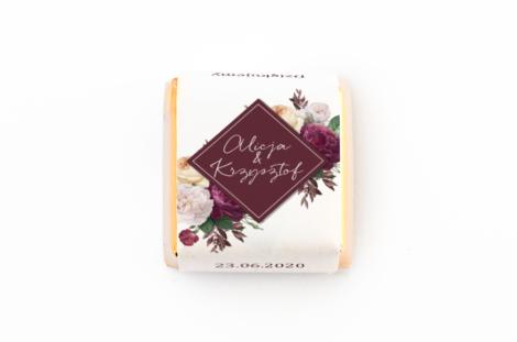 czekoladka z personalizacją weselna